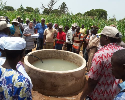 bassin de collecte d'eau dans le Perimètre Maraicher de Kanséné_Sb de Kondala